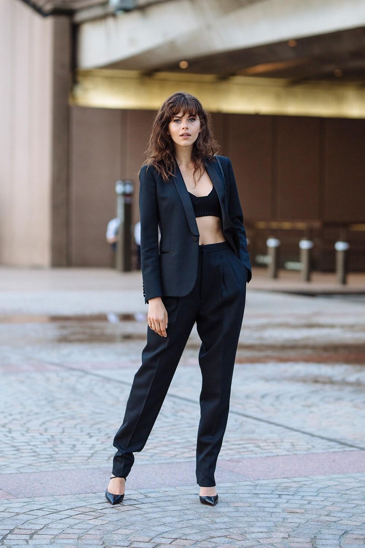 Georgia Fowler wearing Bottega Venetta